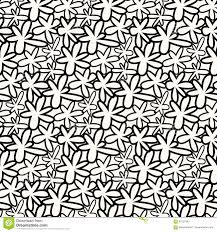 Abstract Bloemenpatroon Naadloze Achtergrond Zwart Wit Ornament