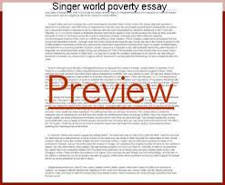 singer world poverty essay coursework help singer world poverty essay poverty is the state of people who do not have a