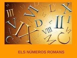 Resultat d'imatges de numeros romans