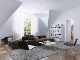 exquisite living room design idea with cozy brown sofa and white top coffee table also nice