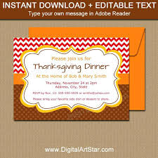 Free Dinner Invitation Templates Printable Impressive Free Printable Thanksgiving Invitations Birthday Flyer Dinner
