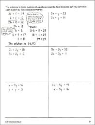 key to algebra book 9 systems of equations additional photo inside page