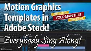 Motion Graphics Templates In Adobe Stock Everybody Sing