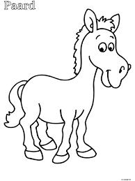 Dieren Kleurplaten Paarden