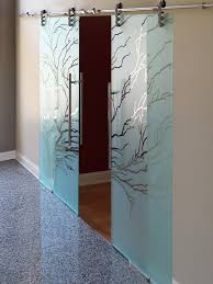 view larger image etched sliding glass barn doors