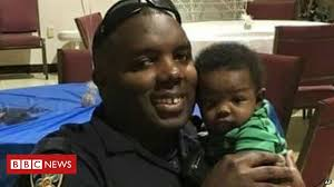 Poignant Facebook post from murdered US police officer - BBC News