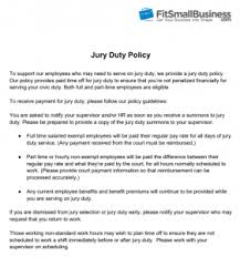 Jury Duty How To Accommodate It Free Sample Policy Letters