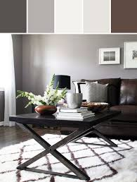 grey and brown furniture. combo of brown sofa grey wall modern rustic living room designed by allmodern via stylyze and furniture