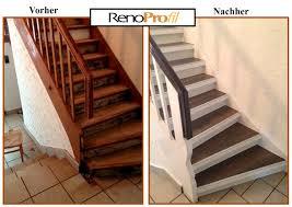 Dazwischen findet die einzigartige wp looseglue matte platz, die schnellstens verlegt werden kann. Treppen Mit Parkett Belegen Gunstig Schnell Und Einfach Mit Renoprofil