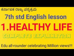 7th cl english lesson healthy life