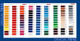 Oracal Adhesive Colour Guide Colour Chart Orafol