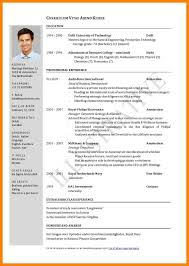 11 Examples For Curriculum Vitae Ismbauer
