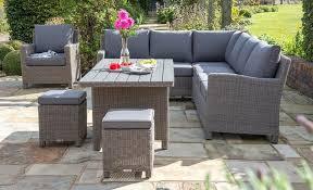 garden furniture. Kettler Palma Rattan Corner Garden Furniture Set On Patio