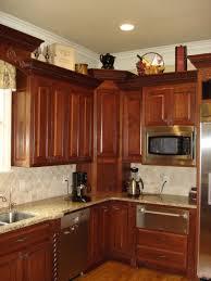 Appliance Garages Kitchen Cabinets 53 Cherry Corner Cabinet With Appliance Garage