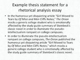 an example of a thesis statement in an essay thesis statement  an