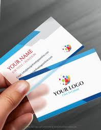 Buisness Card Online Online Business Card Maker App Modern Blue Business Card