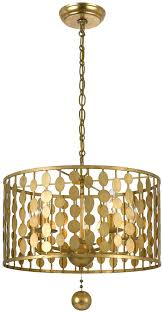 gold drum chandelier pendant bedroom light fixtures design modern antique white gold drum chandelier
