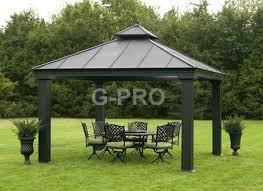huge outdoor 12 039 x 12 039 hardtop pavilion canopy gazebo