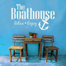 relax house furniture. anchor wall decal the boat house relax enjoy quotes stickers vinyl home decor playroom kids furniture n