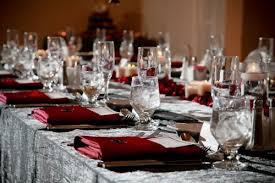 red and silver table decorations. Halloween Wedding Table Decor That\u0027s NOT For The Faint Of Heart Or Superstitious Red And Silver Decorations