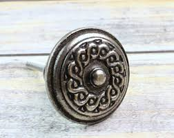 cabinet knobs silver. Cabinet Knobs - Industrial Style Chic Antique Pewter Knob Drawer Pulls Silver T