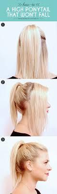 Half Ponytail Hairstyles Best 25 High Ponytail Tutorial Ideas On Pinterest Perfect