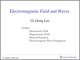 electromagnetic field and waves