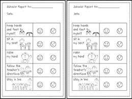 Reward Sticker Charts And Sample Behavior Plan For Kindergarten