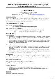 Part Time Job Resume Builder Resume Sample For Part Time Job In Australia Danayaus 13