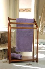image of standing wooden towel rack teak towel rails mince his words freestanding towel rail
