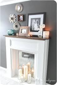 faux fireplace tutorial the pursuit mantle decor mantel shelf dimensions ideas mantels for fireplace mantel