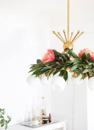 diy fl chandelier garland