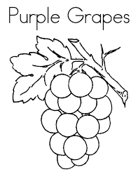 Coloring Grapes Page Grape Pages Leaf Stunning Finest Free