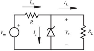 figures from introduction to mechatronics and measurement systems figure 3 16 zener diode voltage regulator circuit