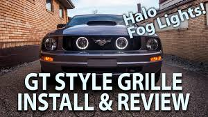 2006 Mustang Fog Lights 2005 2009 Mustang V6 Gt Style Grille Halo Fog Lights Install Review And Move Horn Bracket 05 09