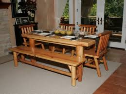 Kitchen Table With Bench Set Kitchen Table Bench Delightful Neat Chairs On Wooden Furniture
