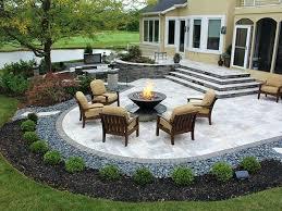 landscaping ideas around cement patio cement patio designs96