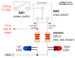target power switch for fighting robots robot room schematic for a robot power switch target indicator leds