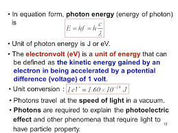 in equation form photon energy energy of photon