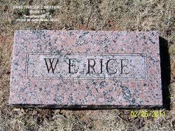 William Everett Rice Sr. (1891-1961) - Find A Grave Memorial