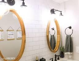 Black Farmhouse Bathroom Lighting Modern Farmhouse Bathroom Reveal With Boho Vibes Craftsman