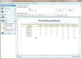 Dispatch Schedule Template Trucking Schedule Template Dispatch