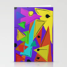 Cages At The Border Abstract Geometric Politicalart Stationery Cards By Never2bold