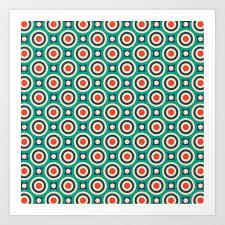 Bullseye Pattern Gorgeous Mid Century Modern Circles Retro Bullseye Pattern Art Print By