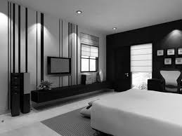 bedroom black and white bedroom with interesting single bed on nice carpet under downlight plus