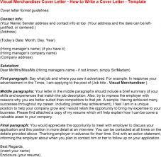 Cover Letter Visual Merchandiser Cover Letter Assistant Visual
