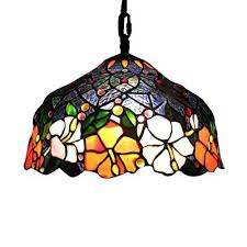 stained glass hanging light old stained glass hanging light fixtures