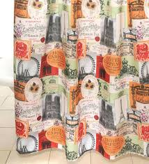 paris shower curtain shower curtain and accessories paris shower curtain big lots