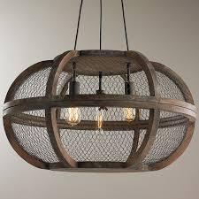 wood chandelier lighting. Rustic Wooden Cage Chandelier Natural Wood Lighting