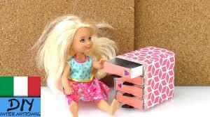 Decorazioni fai da te cassettiera per la casa delle bambole di
